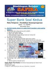 6. SUPER BANK SOAL PKN  KEDUA  KELAS ENAM  SEMESTER DUA.docx