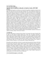 Apuntes sobre las políticas culturales en América Latina, 1987-2009.docx