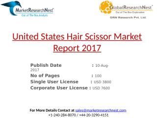 United States Hair Scissor Market Report 2017.pptx