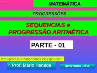 Apresentação 1- PA - novembro 2010.pps