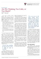 Are We Thinking Too Little, or Too Much.pdf