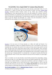 Trivedi Effect Gives Ample Relief To Common Sleep Disorders.docx