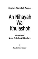 terj. an-nihayah wal khulashah.doc