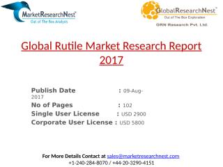 Global Rutile Market Research Report 2017.pptx