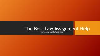 The Best Law Assignment Help.pdf