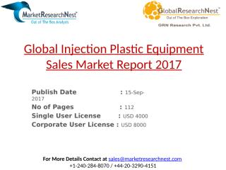 Global Injection Plastic Equipment Sales Market Report 2017.pptx