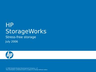 HP Storage Presentation EVA.ppt