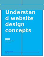 Understand website design concepts.docx