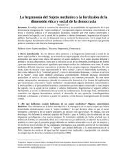La hegemonía del Sujeto mediático y la forclusión de la dimensión ética y social de la democracia.docx