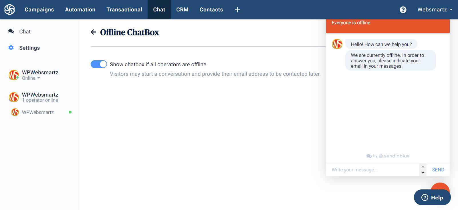Chat box WordPress plugin free