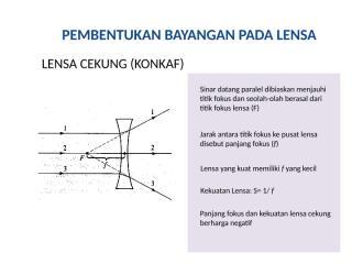 pembentukan bayangan pada lensa.ppt