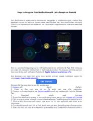 Steps to Integrate Push Notification with Unity Sample on Android.pdf