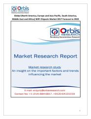 Global (North America, Europe and Asia-Pacific, South America, Middle East and Africa) WIFI Chipsets Market 2017 Forecast to 2022.pdf