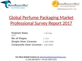 Global Perfume Packaging Market Professional Survey Report 2017.pptx