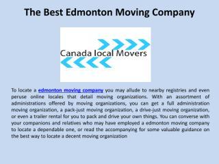 The Best Edmonton Moving Company.pdf
