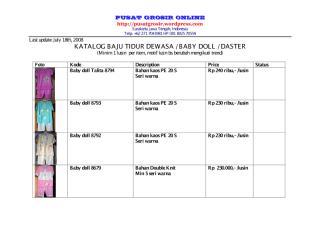 Katalog baju tidur daster baby doll Pusat Grosir Online July 18 2008.pdf