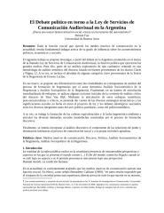 EL DEBATE POLÍTICO EN TORNO A LA LEY DE SERVICIOS DE COMUNICACIÓN AUDIOVISUAL.docx