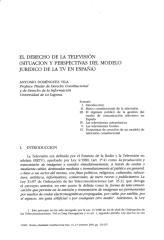 El Derecho De La Television Situacion Y Perspectivas.pdf