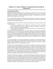 Honduras La guerra mediática y la polarización de los medios de comunicación.docx