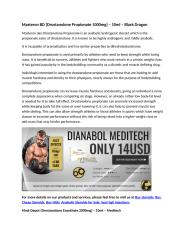 Masteron BD [Drostanolone Propionate 1000mg] – 10ml – Black Dragon.docx