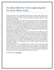 15The Most Effective Teeth Lightening Set For Pearl-White Teeth.doc