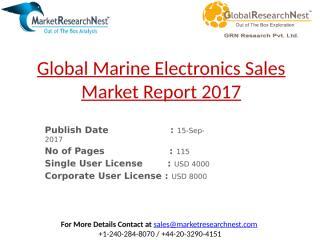 Global Marine Electronics Sales Market Report 2017.pptx