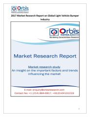2017 Market Research Report on Global Light Vehicle Bumper Industry.pdf