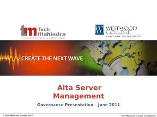 Alta_Monthly_Governance_Status_Report - Jun'2011.ppt